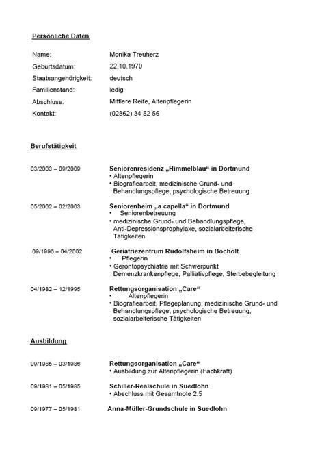 Lebenslauf Ausbildung Altenpfleger Bewerbung Und Lebenslauf Altenpfleger Muster Vorlagen
