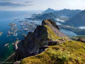 Eco Friendly Wood above svolv 230 r lofoten norway mountain photography by