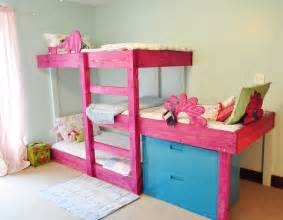 Blueprints For Triple Bunk Beds by The Handmade Dress Triple Bunk Bed Plans