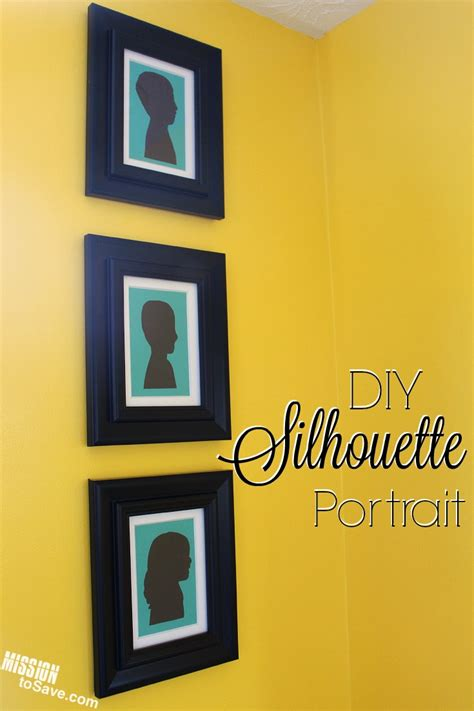 diy silhouette how to make a diy silhouette portrait mission to save
