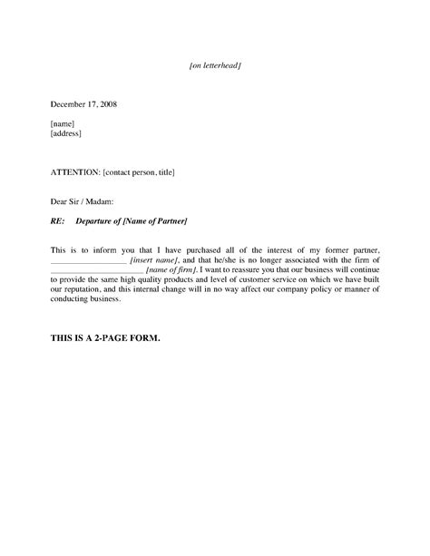 change of management letter template customer notification letters name or management change