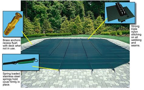 solar pool cover 16x32 blue wave blue 16x32 safety inground pool cover with