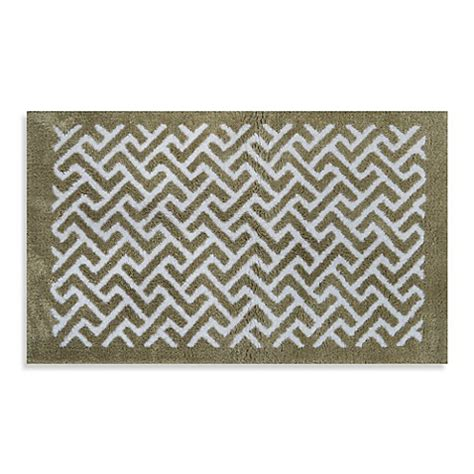Jacquard Bath Rug Adelaide Jacquard Bath Rug In Oatmeal Chevron Bed Bath Beyond