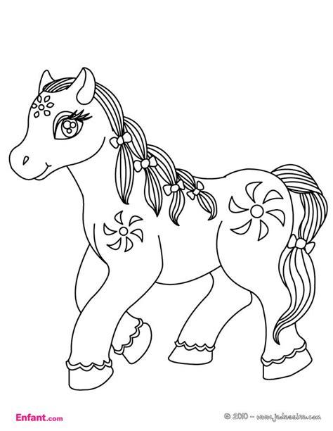 Coloriages pour fille: Le poney