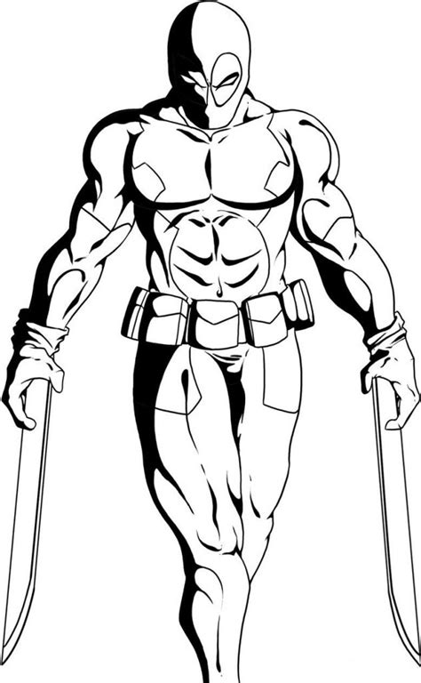 deadpool coloring pages free printable deadpool coloring pages for