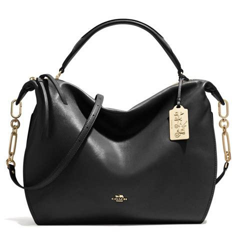 Coach Leather Satchel by Lyst Coach Xl Smythe Satchel In Leather In Black