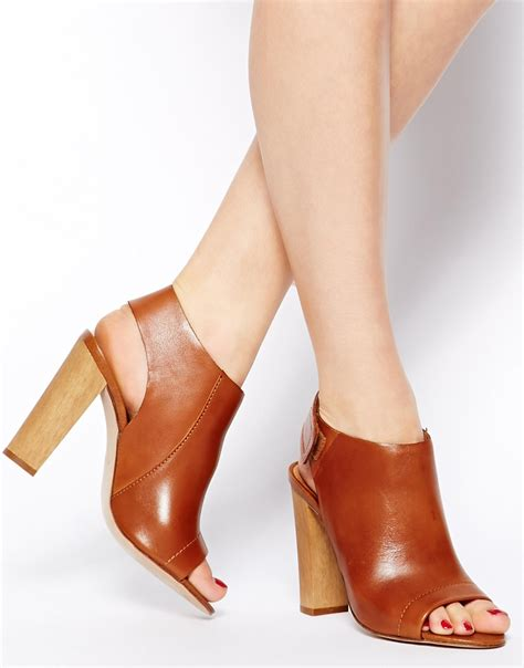 Peep Toe Shoes by Lyst Aldo Peep Toe Shoe Boots In Brown
