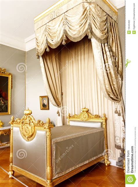 Beedreams Royal Dreams King Bed bedroom with royal canopy bed stock photography image