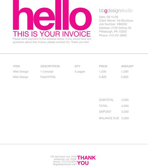 graphic design invoice template pdf invoice like a pro design exles and best practices
