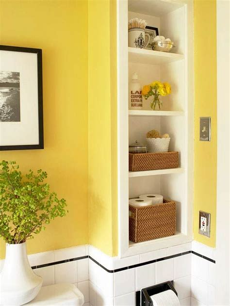Bathroom storage built in shelf home pinterest