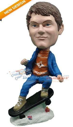 bobblehead gif maker skateboarder custom bobblehead doll