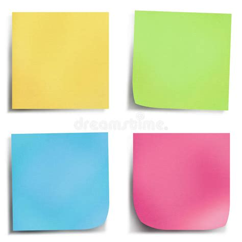 four color four colour post it note stock image image of organizer