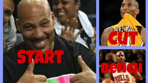 start or bench start one bench one cut one nba players youtube