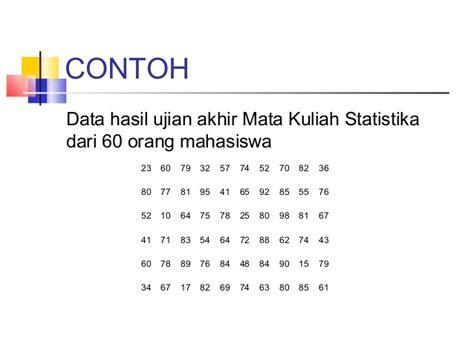 cara membuat tabel distribusi frekuensi statistika statistika tabel distribusi frekuensi