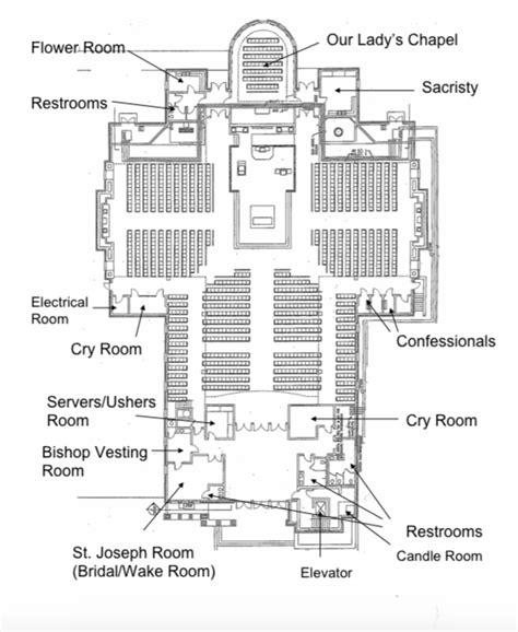 diagram of church church map st catholic church beaufort sc