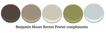 complementary colors to revere pewter wall colors