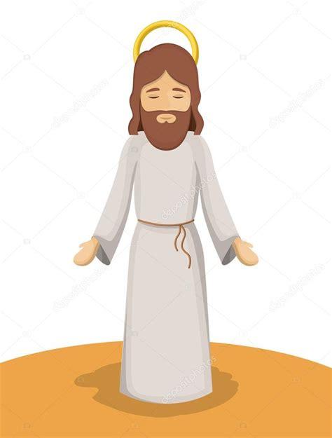 Imagenes De Jesus Animado | dise 241 o de dibujos animados de jes 250 s dios vector de stock