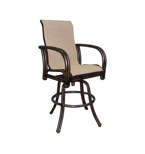 high back swivel bar stools meridian high back sling swivel bar stool castelle