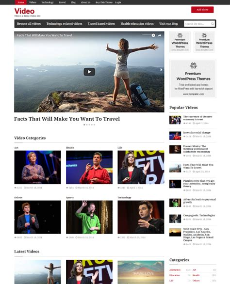 free animated templates for blogger wordpress video theme website template embedded