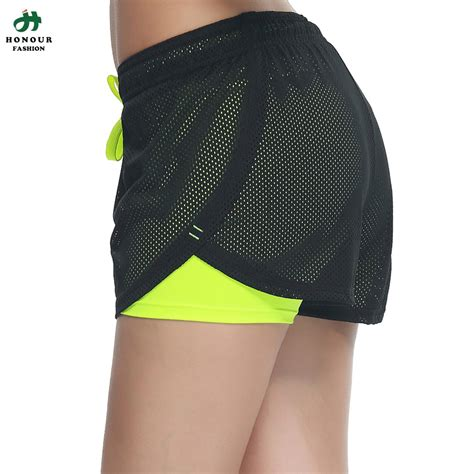 mesh cover solid inner sports shorts two