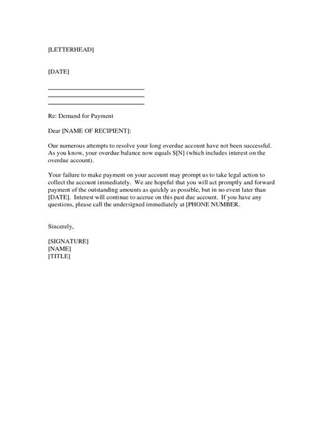 demand for payment letter template search results for payment demand letter template free