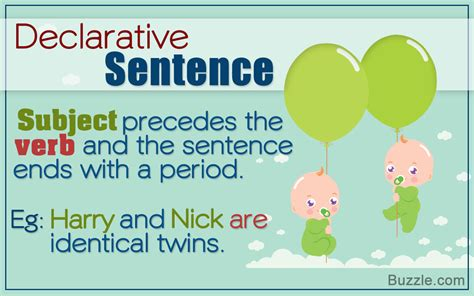 Sentences Of Declarative by Explanation Of A Declarative Sentence Using Suitable Exles
