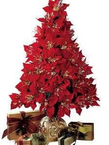 poinsettia fiber optic christmas tree images