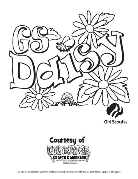 coloring pages for daisy girl scouts 17 best images about girl scout daisy on pinterest girl