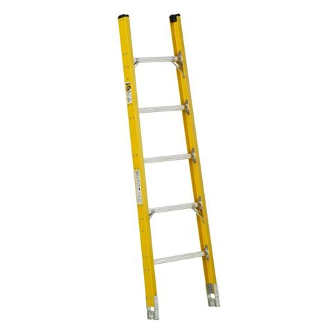 sectional ladders werner 6 ft fiberglass tapered sectional ladder with 375