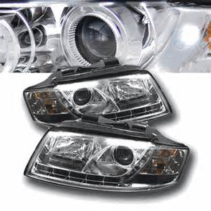 2002 2005 audi a4 drl led r8 style projector headlights