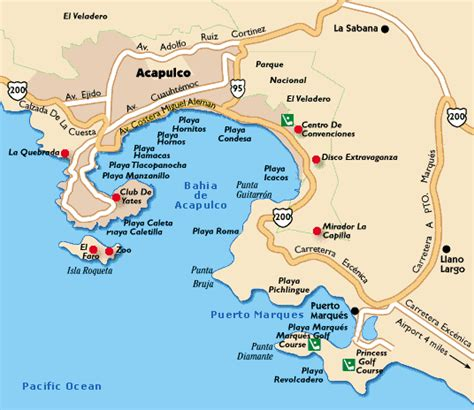 map acapulco mexico acapulco mexico s largest seaside resort city