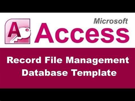 document management access template record file management database template for microsoft