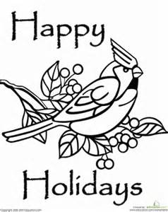 Happy holidays coloring page education com