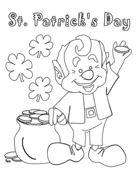 St Patricks Day Activities St Patricks Coloring Pages