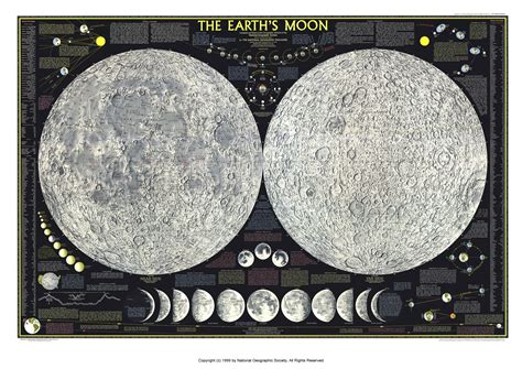 map of the moon map of the moon from february 1969 national geographic