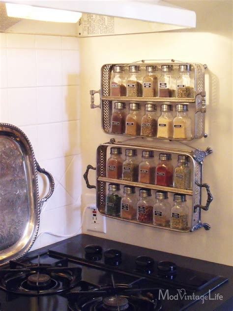 Spice Rack Diy Projects The Cottage Market 25 Best Ideas About Silver Trays On Silver Tray Decor Painted Trays And Silver