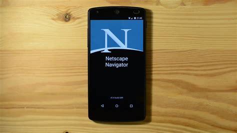 navigator mobile netscape navigator mobile app leaked