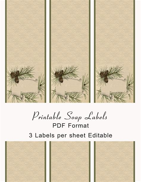 7 Best Images Of Free Printable Soap Labels Printable Soap Labels Free Printable Soap Label Soap Band Template