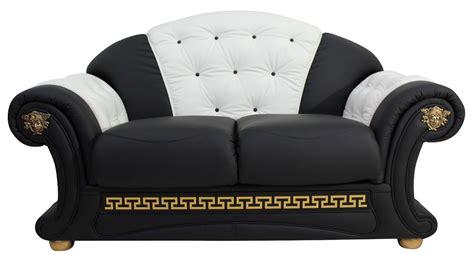 versace style sofa versace 2 seater sofa settee genuine italian black white