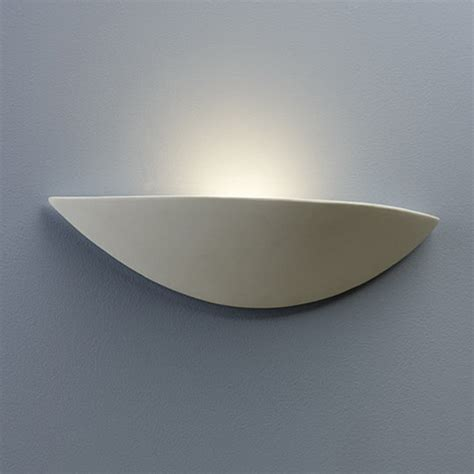 Wall Mounted Uplighters Paintable Unglazed Ceramic And Plaster Wall Lights From
