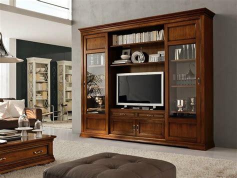 parete attrezzata  legno massello  porta tv contessa