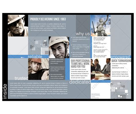 2 Pages Corporate Brochure template for construction