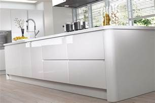 white gloss slab kitchen doors strada gloss white handleless kitchen doors 115 x 597 slab
