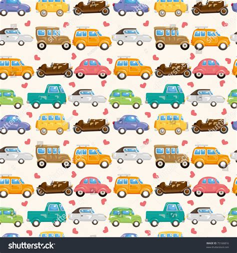 auto pattern finder seamless car pattern stock vector illustration 75166816