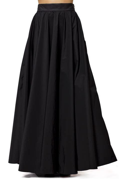 maxi black skirt black skirt high waist a line skirt