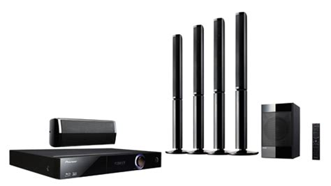 pioneer 5 1 channel home theatre system with disc