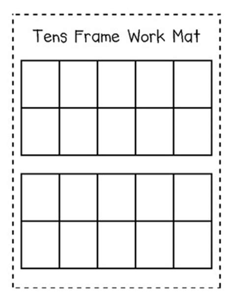 10 Frame Mats by Tens Frame Work Mat For Addition And Subtraction Ten