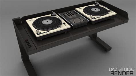 dj desk for sale 3d dj desk for daz studio poser 3d inlite studio 3d store