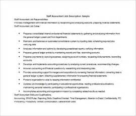 Staff Accountant Description by Description Template 28 Free Word Excel Pdf