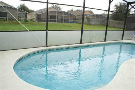 pool screen privacy curtains accommodation florida sunshine villa